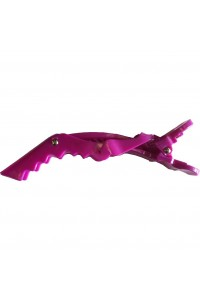 Clip Crocodile Large Purple Touch 10pkt