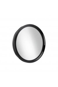 Mirror Round Plastic Large Black Touch 28 Cm