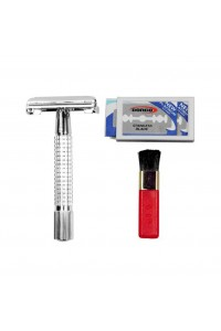 Razor Chrome Safety Shave Set Weishi