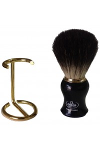 Shave Brush Omega 666y Large Badger Black Handle
