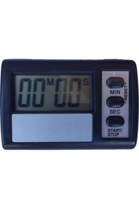 Timer Digital Rectangle Black Touch