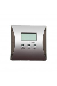 Timer Digital Square Silver /black Square Touch